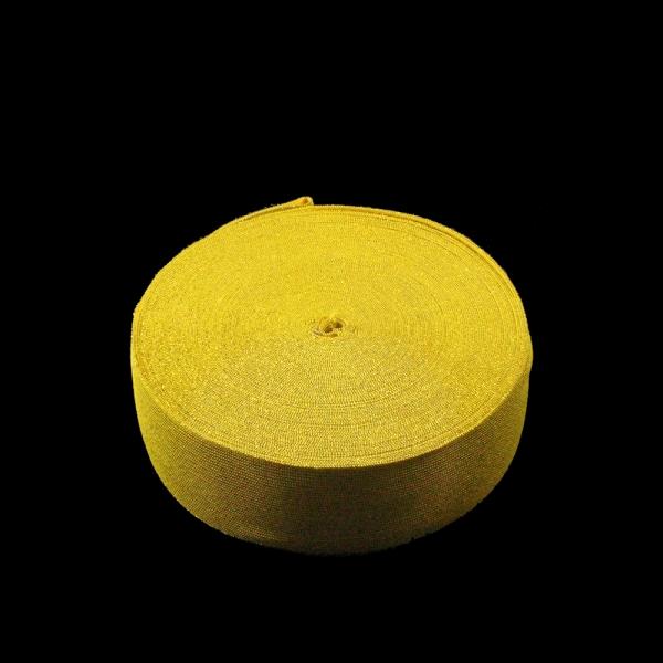 Резинка бельевая желтая+люрекс, 6 см