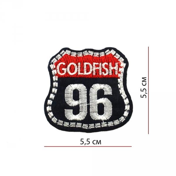 Аппликация клеевая Goldish 96, синяя основа. 5,5х5,5