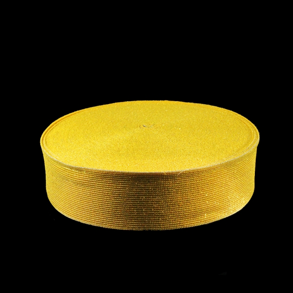 Резинка бельевая люрекс золото, 5 см