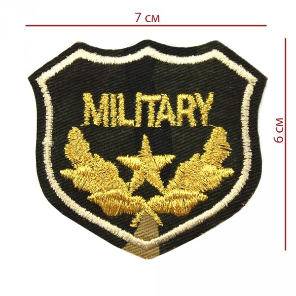 Аппликация клеевая Military 7х6 см