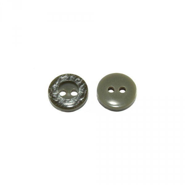 Пуговица серо-зеленая мрамор, 11,4 мм