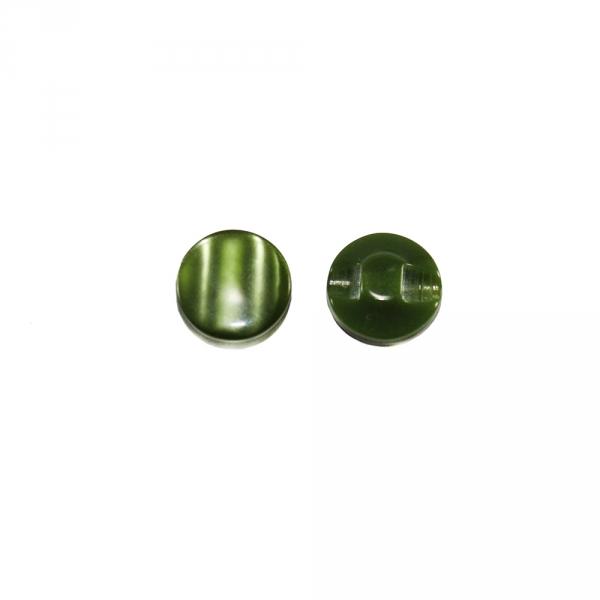 Пуговица полуножка, хаки, зеленый