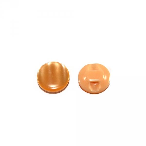 Пуговица полуножка персиковая, 12.7 мм