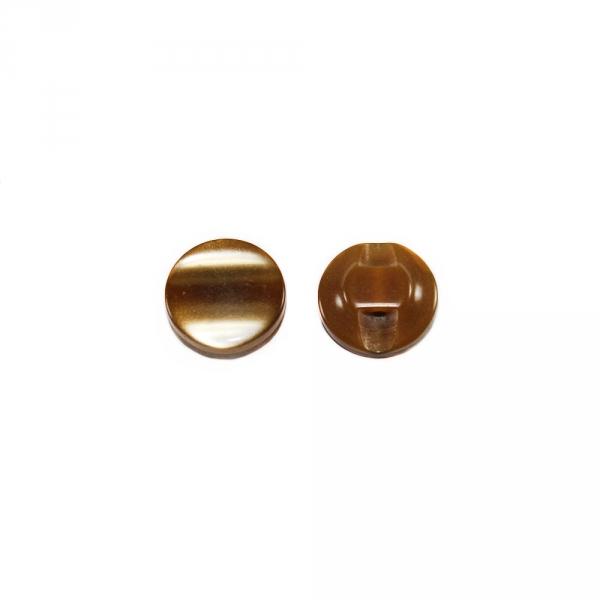 Пуговица полуножка, коричнево-рыжая, 12.7 мм