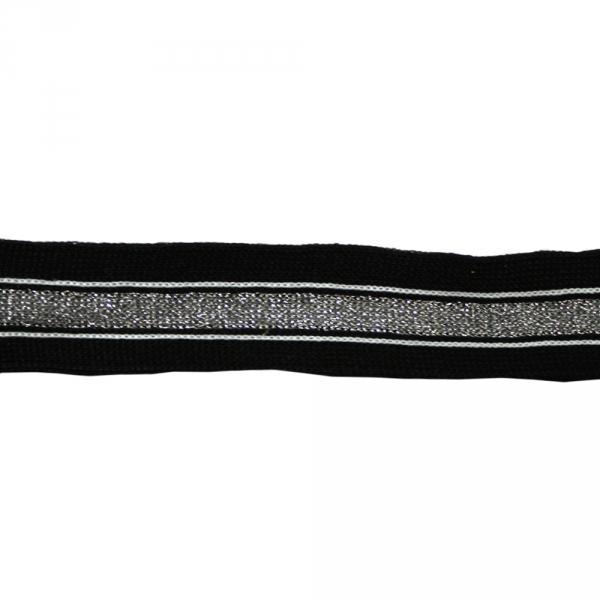 Тесьма трикотажная с люрексом, 2,5 см