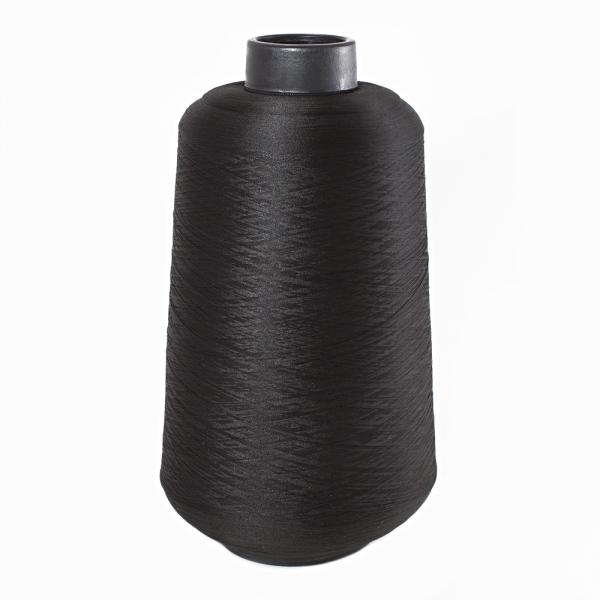 Нить текстурированная (оверлочная), черная
