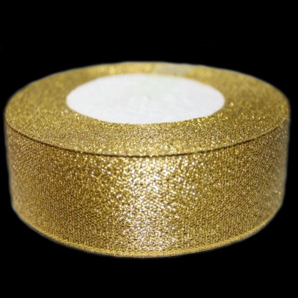 Лента люрексовая золотая, 25 мм