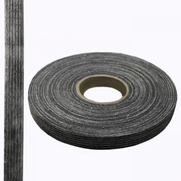 Кромка флизелиновая долевая, черная, 15 мм - 100 м