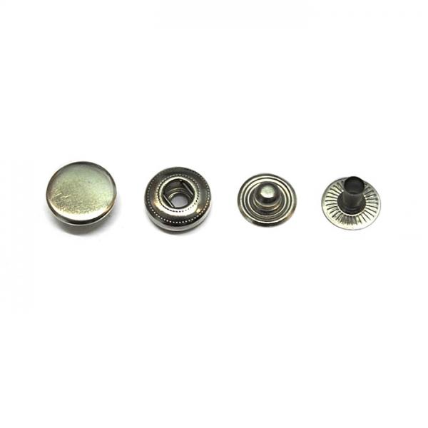Кнопка маленькая никель, 12.5 мм