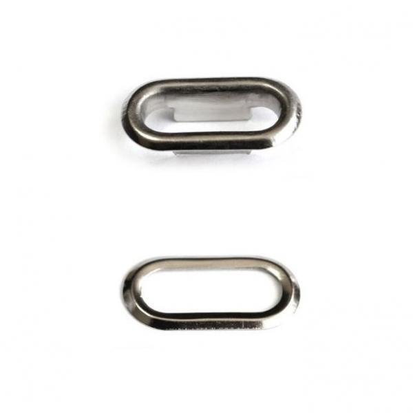 Блочка никель, 15мм овальная +кольца