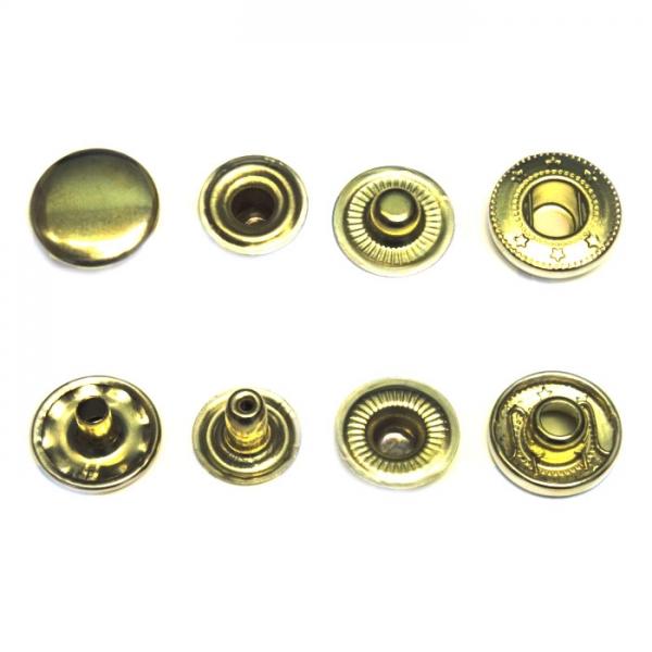 Кнопка средняя Alfa золотая, 15 мм