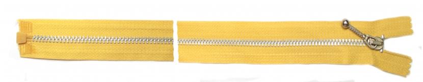 Молния металлическая желтая, 55 см