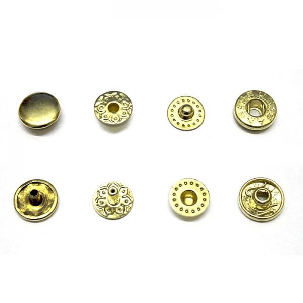 Кнопка рубашечная золотая, 10 мм
