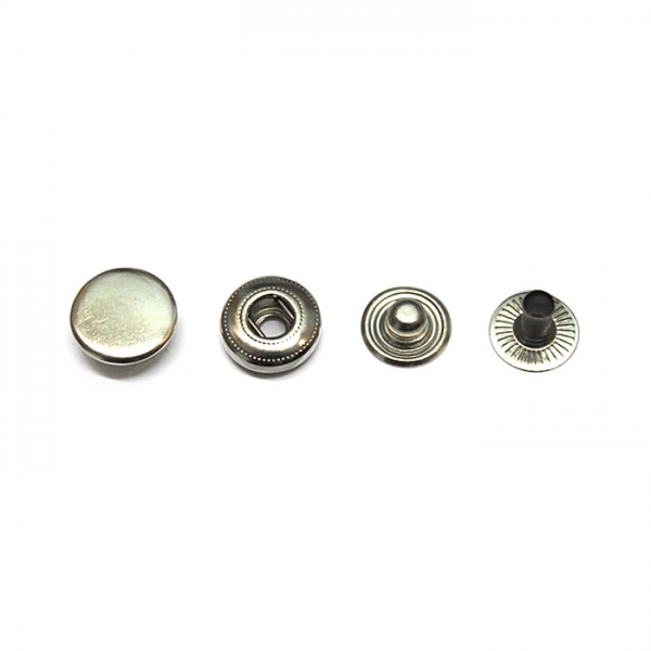 Кнопка маленькая никель,12.5 мм
