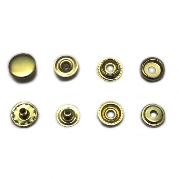 Кнопка средняя золотая, 15 мм