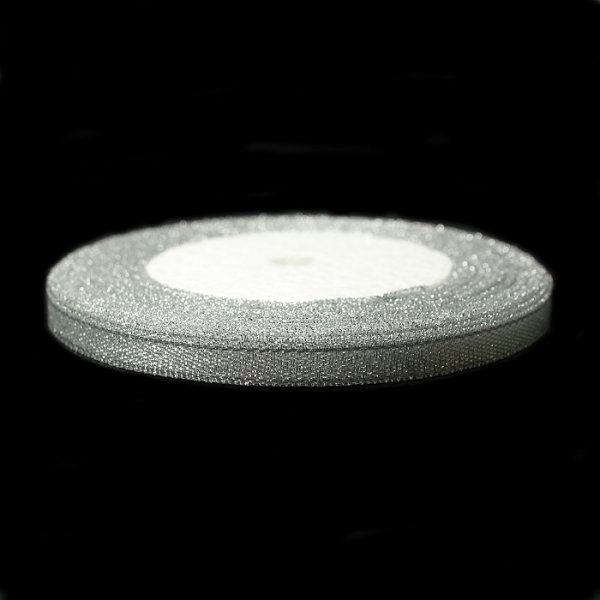 Лента из люрекса серебряная, 10 мм