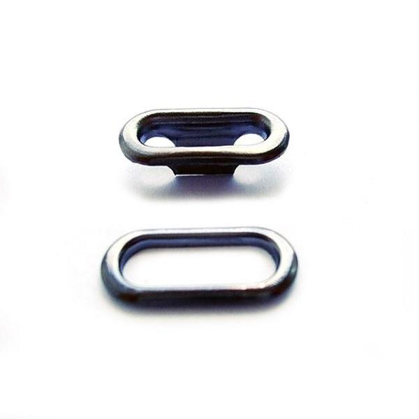 Блочка оксид, 15мм овальная +кольца