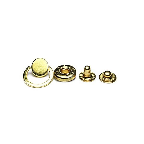 Кнопка маленькая золотая с кольцом, 12.5 мм