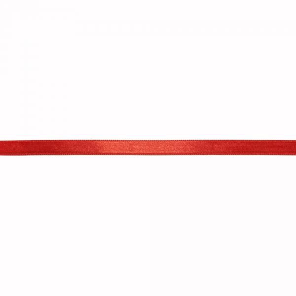 Лента атласная красная, 1 см