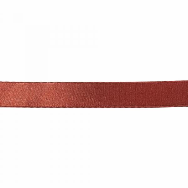 Лента атласная коричнево-бордовая, 3 см