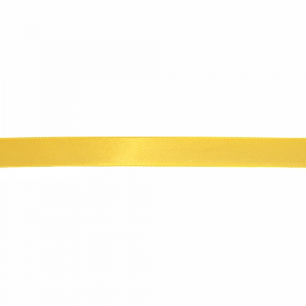 Лента атласная желтая, 3 см