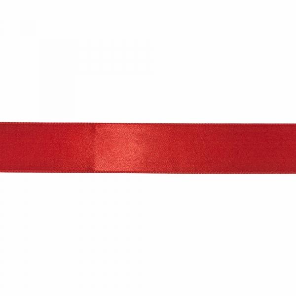 Лента атласная красная, 4 см