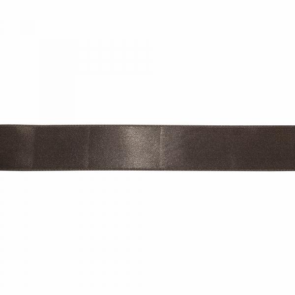 Лента атласная коричневая, 4 см
