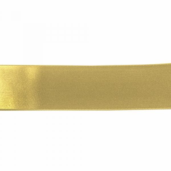 Лента атласная золотистая, 7 см