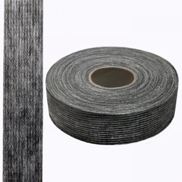 Кромка флизелиновая долевая, черная, 30 мм - 100 м
