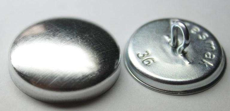 Пуговица под обтяжку на металл ножке, 23 мм