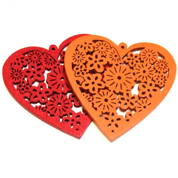 Декор деревянный сердечко №2