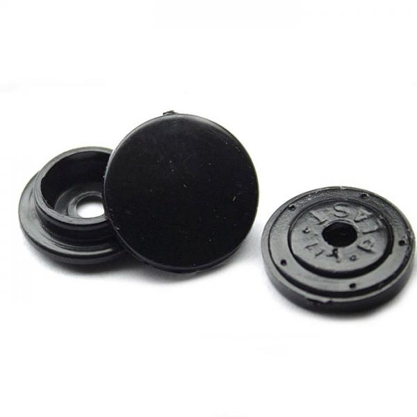 Кнопка пластиковая черная, 12,5 мм
