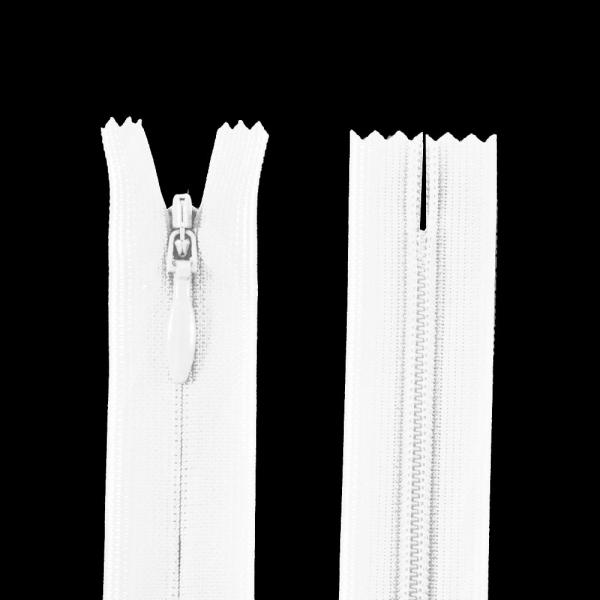 Молния YKK белая потайная, 30 см