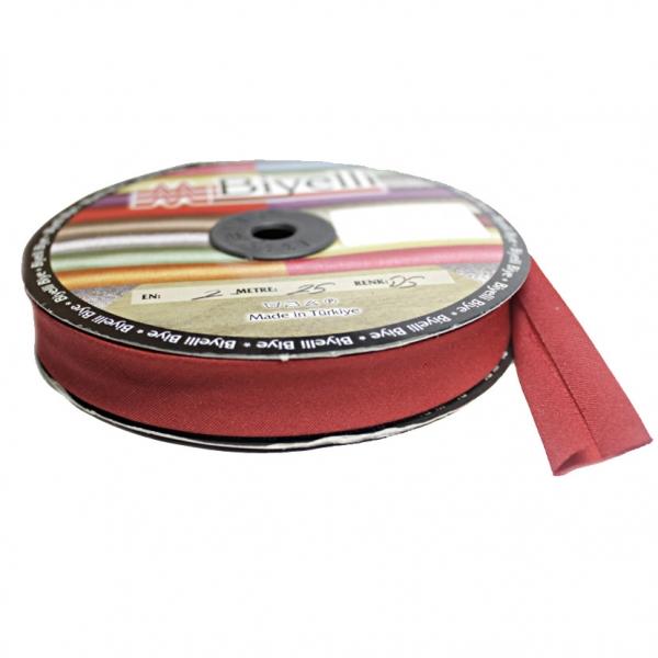 Косая бейка х/б красная, 2 см