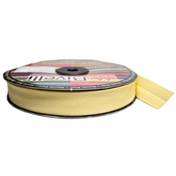 Косая бейка х/б жёлтая, 2 см