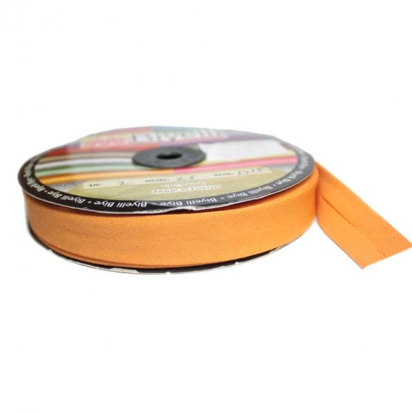 Косая бейка х/б оранжевая, 2 см