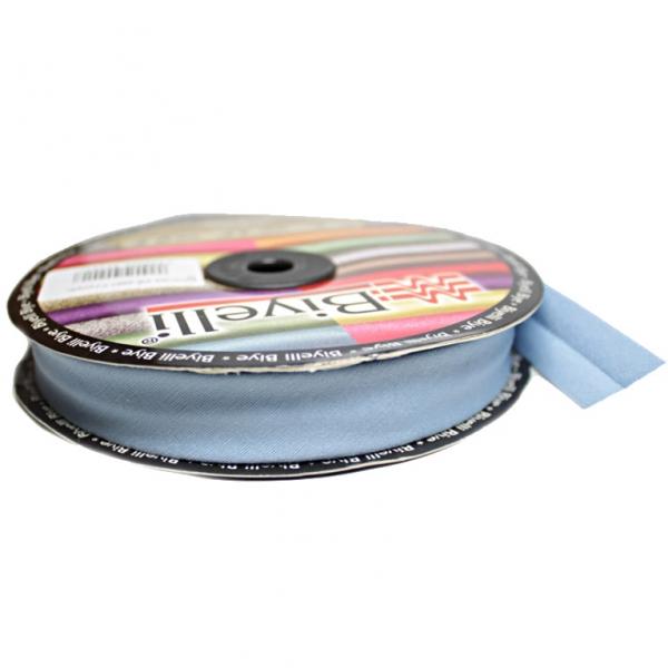 Косая бейка х/б голубая, 2 см