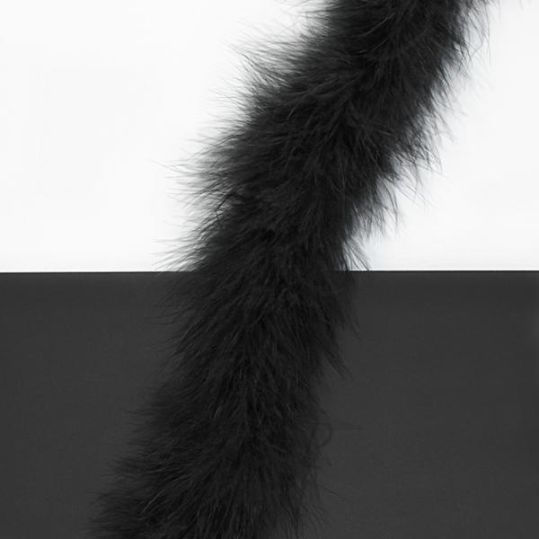 Боа пух чёрный, 2 м