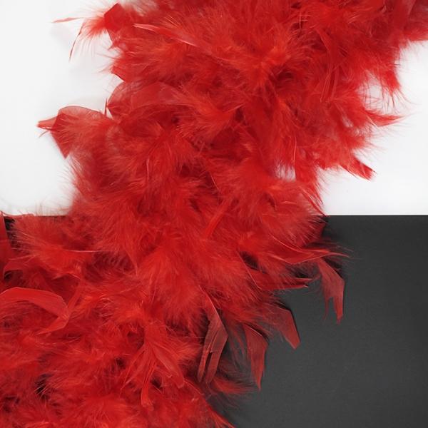 Боа пух-перо красный, 2 м