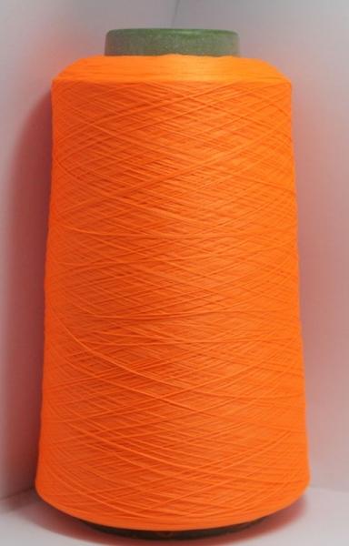 Нить текстурированная (оверлочная), оранжевый неон