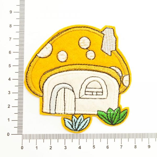 Аппликация клеевая грибной домик,оранж
