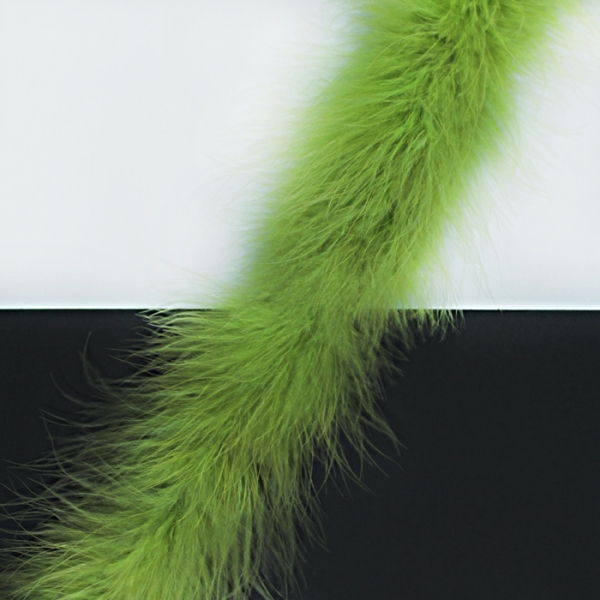 Боа пух зелёный, 2 м