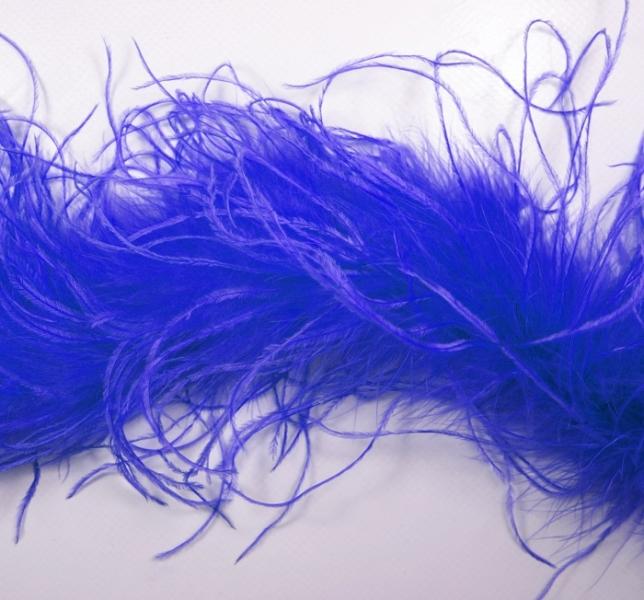 боа пух электрик (синий), 2 м