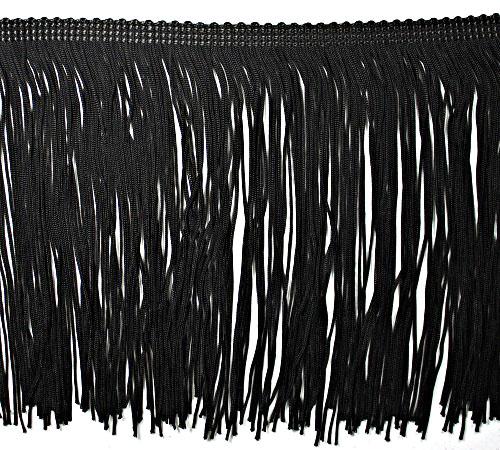 Бахрома танцевальная черная, 15 см