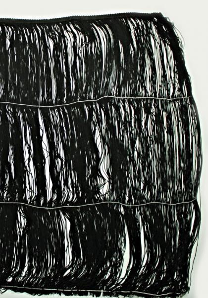 Бахрома танцевальная черная, 60 см