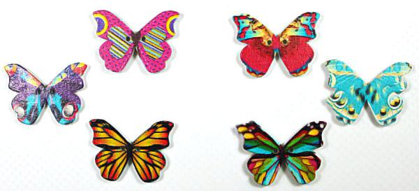 Деревянный декор-бабочка 20х30