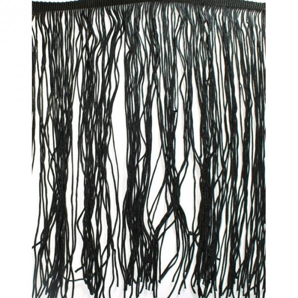 Бахрома танцевальная черная, 27-35 см