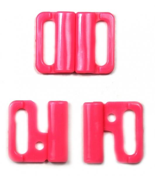 Застежка для купальника розовая, 1.5 см
