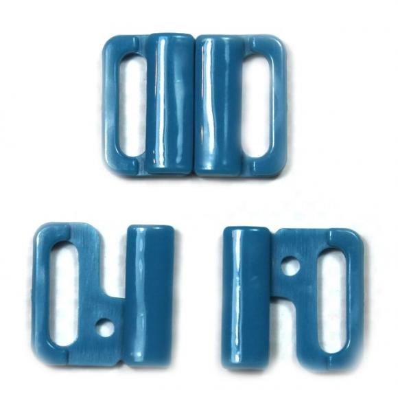 Застежка для купальника голубая, 1.5 см