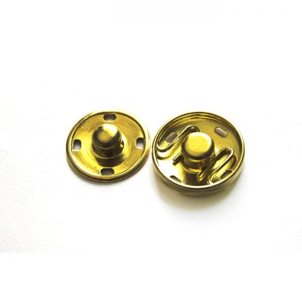 Кнопка пришивная золото, 12 мм